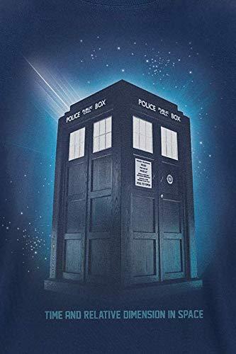 Doctor Who Shirt Homme Tardis Espace /à la S/érie Coton Bleu