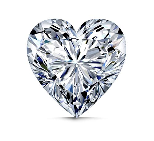 Diamonds Loose Princess Vvs1 - Realistic Brilliant Heart Shape Simulated Diamond Loose IF VVS1 1 2 Carats