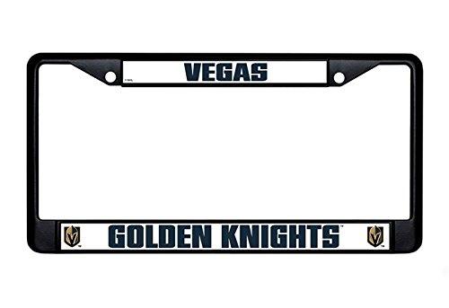 - Rico Industries NHL Vegas Golden Knights Standard Chrome License Plate Frame, Black, Black, 0.5