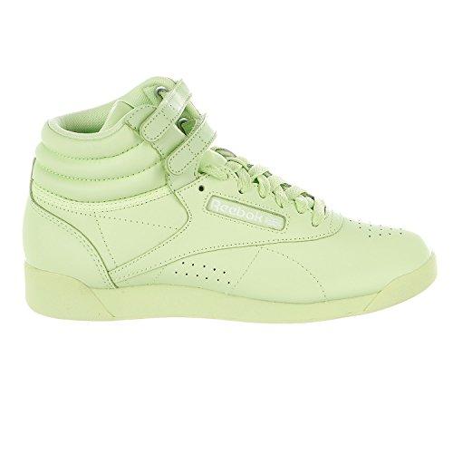 Reebok Women's F/S HI Colors Sneaker, Lime Glow/White, 8.5 M US