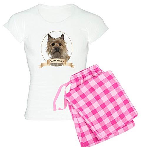 (CafePress Cairn Terrier Pajamas Womens Novelty Cotton Pajama Set, Comfortable PJ Sleepwear)