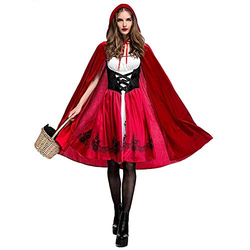 SWYIVY Little Red Riding Hood Halloween Costumes for Women Size XL]()