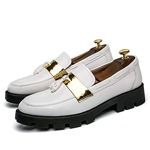 Pizzico Slip Scarpe Bianca da da On di Uomo Tassel Cricket Scarpe Loafer Scarpe Oxford OU0XUB1q