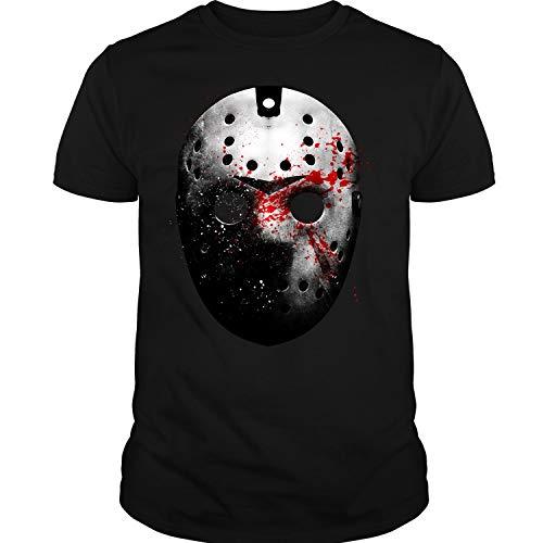 CNTSTORE Jason Voorhees Face T Shirt, Friday The 13th T Shirt Unisex (XL,Black) ()