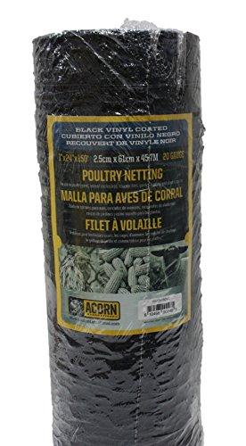 Acorn International PNVC124150 Vinyl Coated Poultry Netting, 1
