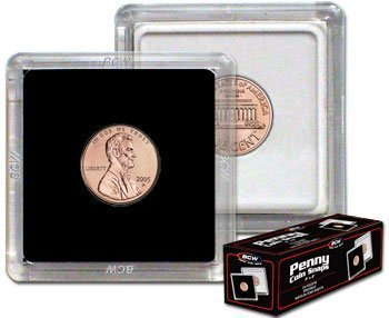 25 Holder Pack of 2×2 Coin Snap Holder Penny (19mm) Size by Comictopia by Comictopia