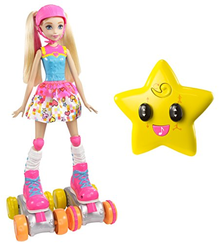 Barbie Video Game Hero Remote Control Roller Skating Doll -