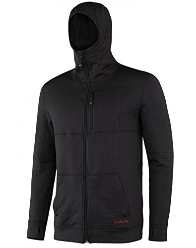 Terramar Men's Ecolator Full Zip Hoodie,  X-Large - Black - Edge Mens Hooded Zip Sweatshirt
