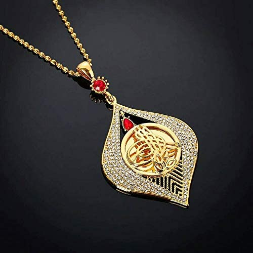 Amazon.com: Tanakorn Style Pendant Necklace Gold Color Jewelry for Women African Eritrea Items Slam Arabic Jewelry Women: Home & Kitchen