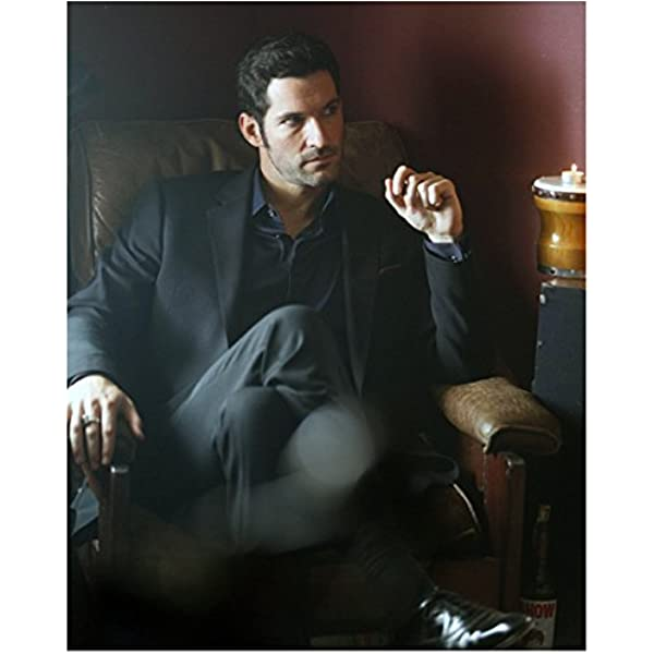 Lucifer With Tom Ellis As Lucifer Morningstar Seated In Chair 8 X 10 Inch Photo At Amazon S Entertainment Collectibles Store