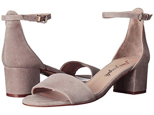 Sandalo Con Tacco Largo Grigio Con Tag Di Persone
