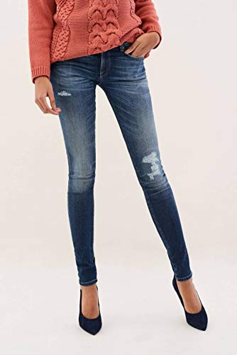 Premium Flex Up Salsa Skinny Jeans Push Wonder Blu AWSgx6Ff