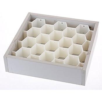 Ybmhome Plastic Cellular Partition Honeycomb Shaped Underwear Socks Bras Ties Belts Scarves Drawer Closet Shelf Divider Storage Bin Organizer White 2180 ...