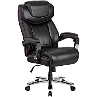 Flash Furniture HERCULES Series Big & Tall 500 lb. Rated Leather Executive Swivel Chair with Height Adjustable Headrest