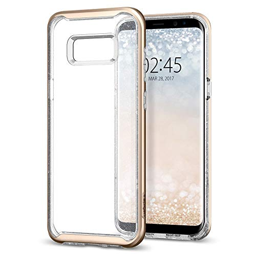 Spigen Neo Hybrid Crystal Glitter Galaxy S8 Plus Case with Flexible Inner  Protection and Reinforced Hard Bumper Frame for Galaxy S8 Plus (2017) -  Gold
