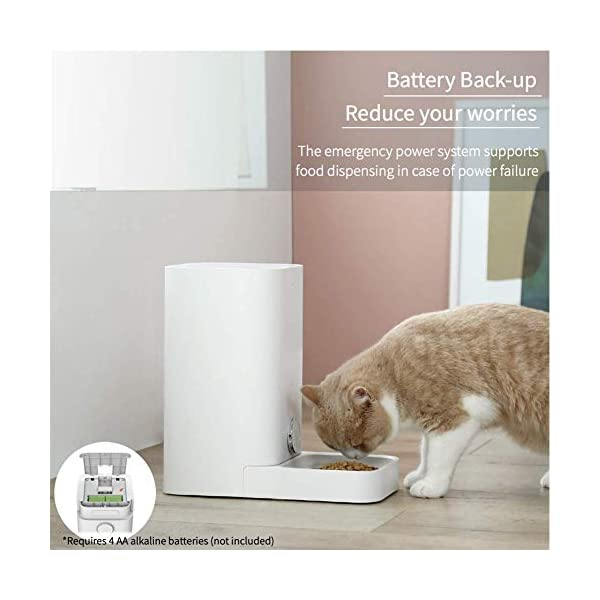 PETKIT Automatic Cat Puppy Feeder, App Control, 10 Portions,10 Meal Plans per Day, Low Food LED Indicator Pet Smart… 5