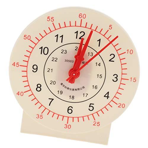 [해외]F Fityle 초 변환 교육 시계 자료 시간 교육 시계 장난감 플라스틱 / F Fityle seconds minute conversion wisdom age clock number time education clock toy plastic