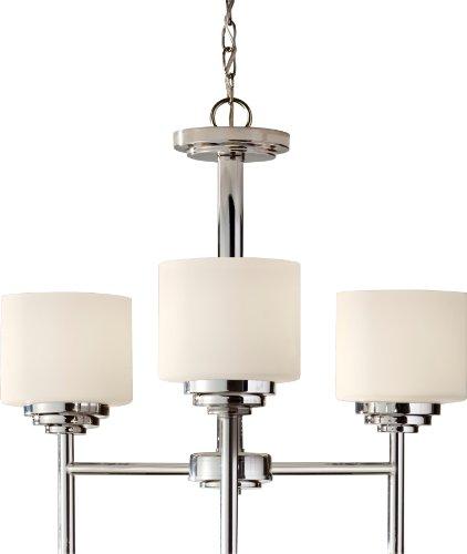 (Feiss F2765/3PN Malibu Glass Mini Chandelier Lighting, Chrome, 3-Light (20