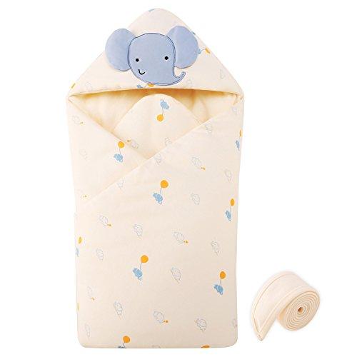 Baby Swaddle Blanket Cotton Sleeping Bag Envelope for Newborns Elephant 88 88 cm by pureborn