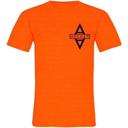 Arkham Asylum Prisoner Costume: Unisex Neon Crew Neck T-Shirt (Asylum Costume)