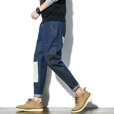 Pantalones vaqueros del estiramiento de los hombre Zip pantalones ...