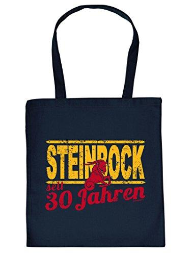Steinbock Henkeltasche Beutel mit Aufdruck Tote Bag Tragetasche Must-have Stofftasche Geschenkidee Fun Einkaufstas