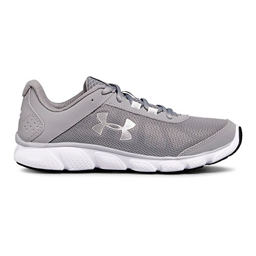 Under Armour Women's Micro G Assert 7 Running Shoe, Steel (100)/White, 6