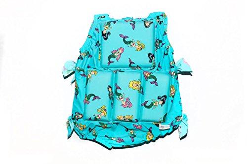 Girls Floating Bathing Suit Flotation Swimsuit X-small, Small, Medium, Large Avaliable in Palm Tree,Sunglasses & Tie Dye Patterns (Medium, Mermaid) (Pattern Tree Palm)