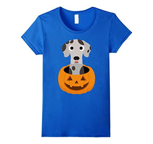 Womens Halloween costume gifts Great dane dog lover t shirt Small Royal Blue