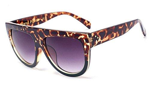 GAMT Brand Designer Vintage Women Flat Top Sunglasses Female Rivet Shades Oversize Eyewear - Sunglasses Wayfarer Top Brands