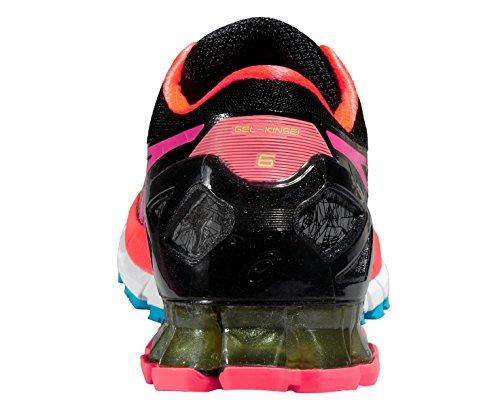 Asics Gel-Kinsei 6, Zapatillas de Gimnasia para Mujer Negro / Coral / Multicolor