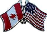 Mikash USA American Canada Friendship Flag Bike Motorcycle Hat Cap Lapel Pin | Model FLG - 2023
