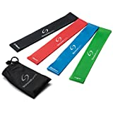 Resistance Loop Bands - Set of 4 Premium Exercise Bands - Great for Improving Mobility and Strength, Yoga, Pilates or for Injury Rehabilitation - Suitable for Women and Men - Made From Natural Latex Material - Lifetime Guarantee Bild
