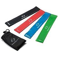 Set aus 4 Fitnessbändern - Gymnastikbänder / Loops für Yoga, Pilates,...