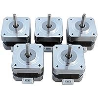 Stepper Motors NEMA 17 Kit 12V for CNC Reprap 3D Printer 36.8oz.in 0.4A