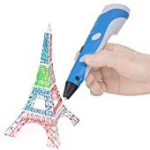Soyan 3D Pen for Arts and Crafts, 3D Molding, Sculpting and Doodling, Perfect Gift for Kids (Blue)