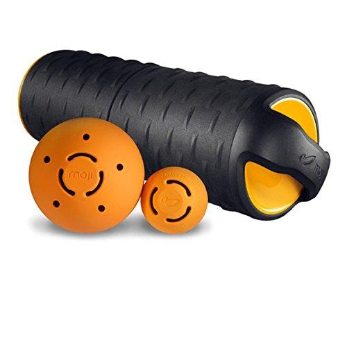 Moji Ultimate Heat Plus Massage Bundle (Heated Foam Roller, Small Heated Massage Ball, Large Heated Massage Ball) by Moji