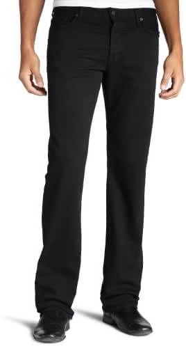 7 For All Mankind Men's Standard Straight-Leg Jean in Black Out