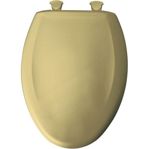Bemis 1200SLOWT 031 Slow Sta-Tite Elongated Closed Front Toilet Seat, Harvest Gold