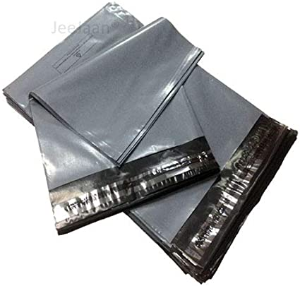 """10 BAGS 4/"""" x 6/"""" STRONG POLY MAILING POSTAGE POSTAL QUALITY SELF SEAL GREY"""
