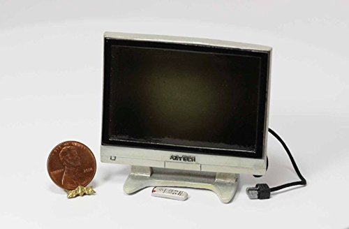 Miniature 1:12 Scale 36 In Widescreen Tv with Remote by Town Square Miniatures (36 Inch Wide Tvs)
