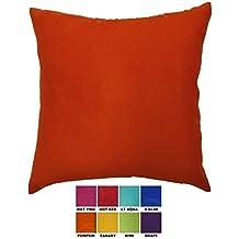 "DreamHome - Solid Faux Suede Decorative Pillow Cover/Euro Sham, 26"" X 26"" - Pumpkin"