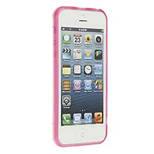 Quality Transparent Hard Case with Solid Color Frame for iPhone 5C (Assorted Colors) --- COLOR:Black