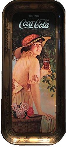 1916 Coca-Cola Elaine Long Rectangular T - Vintage Coca Cola Tray Shopping Results