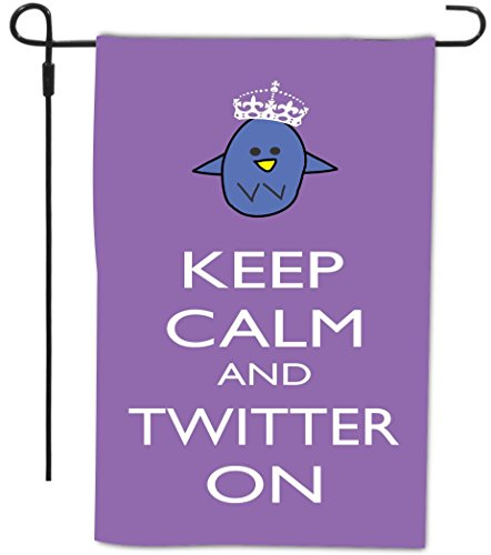 Rikki Knight Keep Calm and Twitter Decorative House or Ga...