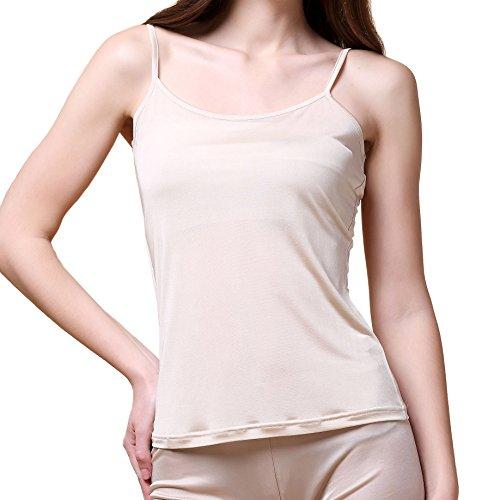 - Paradise Silk Pure Silk Knitted Women's Camisole Tank Top[USL,Beige]