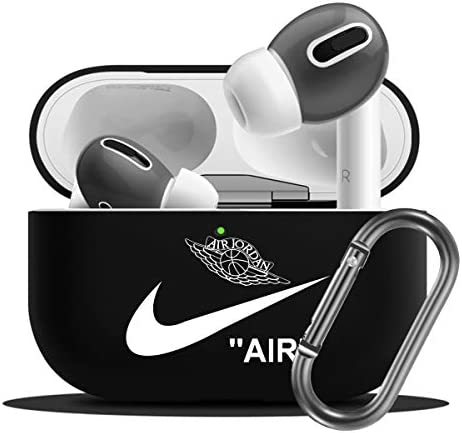 Airpod Pro Case -Shock Protective Case Cover with Keychain(Black)