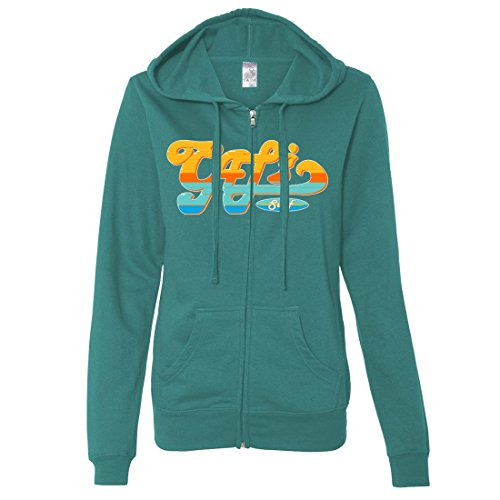 Fitted up Dolphin Surf Hoodie Cali Zip Shirt Co Teal Ladies Lightweight nwwxUSYqf