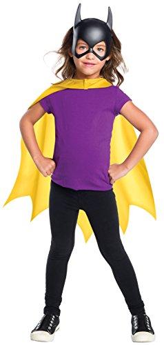 Rubie's Costume Girls DC Comics Batgirl Cape & Mask Set Costume, One Size]()