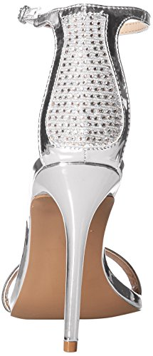 Single Sole Sandal Women's Qupid Heeled Silver 58RT1wq